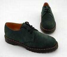 Schnürer Hardcore Shoes Halbschuhe Echtleder grün Gr. 42