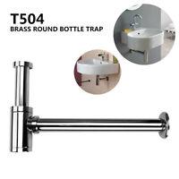 P-Trap Standard 1-1/4'' Chrome Brass Round Bottle Trap Waste Bathroom Basin  ●❤