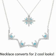 Montana Silversmith Walk In Winter Horseshoe Blue Crystal Convertible Necklace