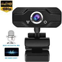 USB Webcam pour PC Full HD 1080P Microphone Vidéo Stéréo Enregistrement video