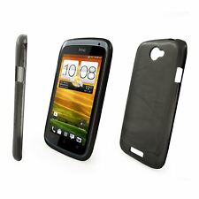 Silicone TPU Gel Bumper Case Cover Sleeve Skin For HTC One S & Screen Protector