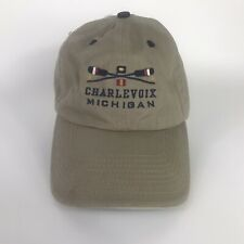 Charlevoix Michigan Hat Khaki Sportswear 100% Cotton Style #7992