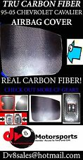 REAL CARBON FIBER AIR BAG COVER for Cavalier 95-05 >>custom<< 96 97 98