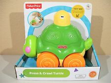 Fisher-Price Go Baby Go! Press And Crawl Turtle New Toddler Push Musical Sensory
