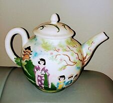 Antique/Vintage pottery/ceramic hand painted Teapot by Brenda Fleming 1986