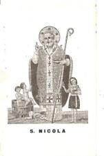 S. NICOLA  -  Patrono di BARI   (  Santino / Cartoncino )