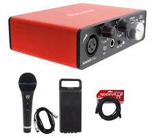 Focusrite SCARLETT SOLO 2nd Gen 192KHz 2.0 Audio Interface+Microphone+Case+Cable