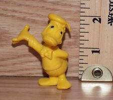Vintage Walt Disney Yellow Donald Duck Small Rubber Figure Only **READ**