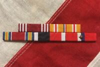 WWII Army Philippines Asia Pacific Service Mounted 5 Ribbon Bar - WW2