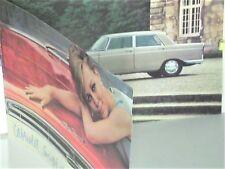 TRES BEAU CATALOGUE  PEUGEOT 404 COUPE / CABRIOLET 1966 & BERLINES SUPER LUXE