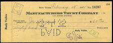 JOE HAYMES BIG BAND LEADER PIONEER AUTOGRAPHED CHECK FROM 1935 RUDY VALLEE