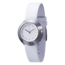 "Normal Timepieces ""Fuji"" Quarzo Acciaio Inox Bianco Pelle Orologio Donna"