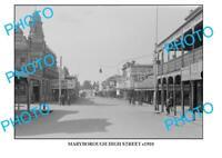 LARGE PHOTO OF OLD MARYBOROUGH HIGH STREET c1910 VIC
