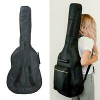 "41"" Black Padded Full Size Acoustic Classical Cotton Cover Guitar Thick Bag D0G3"
