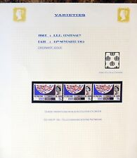 GB 1965 I.T.U. Varieties with Major Pink Shift As Described U/M FP9754