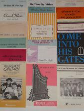 Vintage Lot - 18 Different Sheet Music SATB