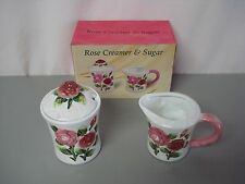 NIB ARC Rose Ceramic Sugar & Cream Set #146Z