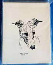 Whippet 10 Blank Greeting Cards Envelopes Set NEW FREE SHIPPING Dog Puppy
