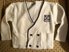 Carriage Boutiques baby toddler white sweater cardigan 12-18 months
