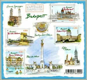 "France - ""ARCHITECTURE ~ EUROPEAN CAPITALS ~ BUDAPEST"" Mini Sheet MS 2011 !"