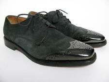 CHRISTIAN LOUBOUTIN SUEDE LEATHER OXFORD SHOES METAL TOE CAP BROGUE WINGTIP~39/6