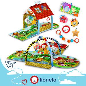 Lionelo Agnes Spieldecke Spielbogen baby spielzeug  tragbare Baby Krabbeldecke