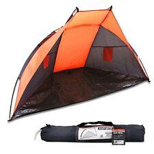 Orange Beach Tent SPF UV Garden Sun Canopy Wind Break Screen Beech Shade Shelter