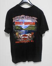 HARLEY DAVIDSON T-Shirt - Men's Size L - ADIRONDACK Amsterdam, NY Motorcycle