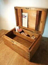 More details for antique pine royal navy ww1 sailor's ditty box / writing box  nautical history