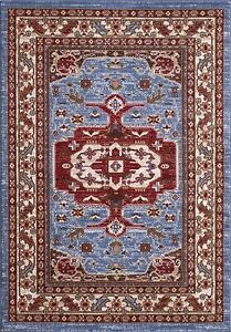 House Additions Collection Qashqai Design 5578A Blue Red Cream, 60 x 230cm
