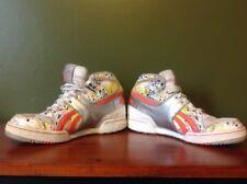 Reebok Classic High Top Sneakers Orange Yellow Splatter Men's 9.5 Athletic Shoes