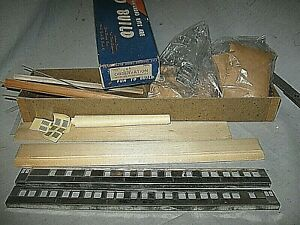 X6122 HO RARE old WALTHERS 7604 UNDECORATED HW OBSERVATION,wood/metal side kit