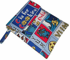 Baby Cooker Monster Fabric Nappy Diaper & Wipes Changing Travel Gift Bag - New