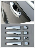 Set Chrome Side Door Handle Surround Cover Trim For Jeep Patriot 2011-2015