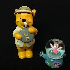 Disney Winnie the Pooh Safari Hunny Figurine & Piglet Mini Snowglobe Rare-Cute