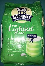 4 X Devondale 1Kg Instant High Calcium Milk Powder SKIM 德运高钙全脂或脫脂成人奶粉