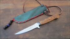 SHARP Antique  ANTON WINGEN Germany Jagdnicker Jagdmesser Hunting Knife w/Stag
