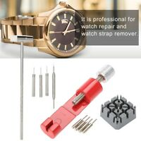 11Pcs Watch Repair Tool Set Strap Link Holder Hammer Punch Pin Remover Kit Tool