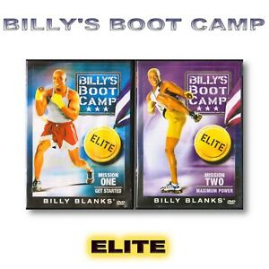 Billy's Boot Camp Mission One & Mission Two DVD 1 2 Fitness Strength Training