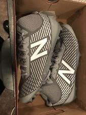 New listing New Balance Men's Mid-Cut Burn X Lacrosse Cleat Shoes Gray 13 D New in Box