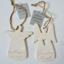 Ceramic Guardian Angel Hanging Christmas Decor/Christening Gift by Gisela Graham