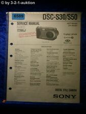 Sony Service Manual Dsc S30/S50 Level 1 Digital Still Camera (#6589)