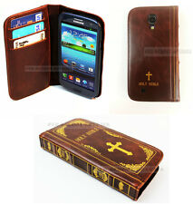 Para Samsung Galaxy S4 Santa Biblia Libro Vintage Retro Antigüedad Clásico Funda