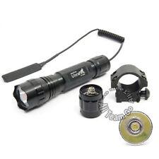 UltraFire 1200 Lumens L2 LED Tactical Flashlight Torch w/ Pressure Switch &Mount