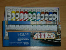 Peinture Acrylique, set de la marque ARTICO,12 teintes.