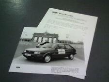 1988 FORD FIESTA DIESEL BERLIN ON £8 PRESS RELEASE / BRANDENBURG GATE - Brochure
