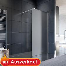 """Duschabtrennung Milchglas-Streifen ESG Glas 10mm 100x200cm /""""EVA/"""" Duschwand"""