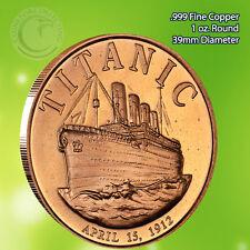 Titanic 1912 1 oz .999 Copper Round