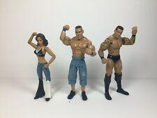 Lot of 3 WWE Jakks John Cena, Randy Orton, Mickie James Aggression Best of 2009