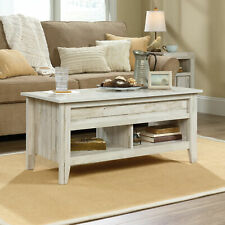 Lift Top Coffee Table Display Storage Shelves Wooden Rustic Farmhouse Furniture